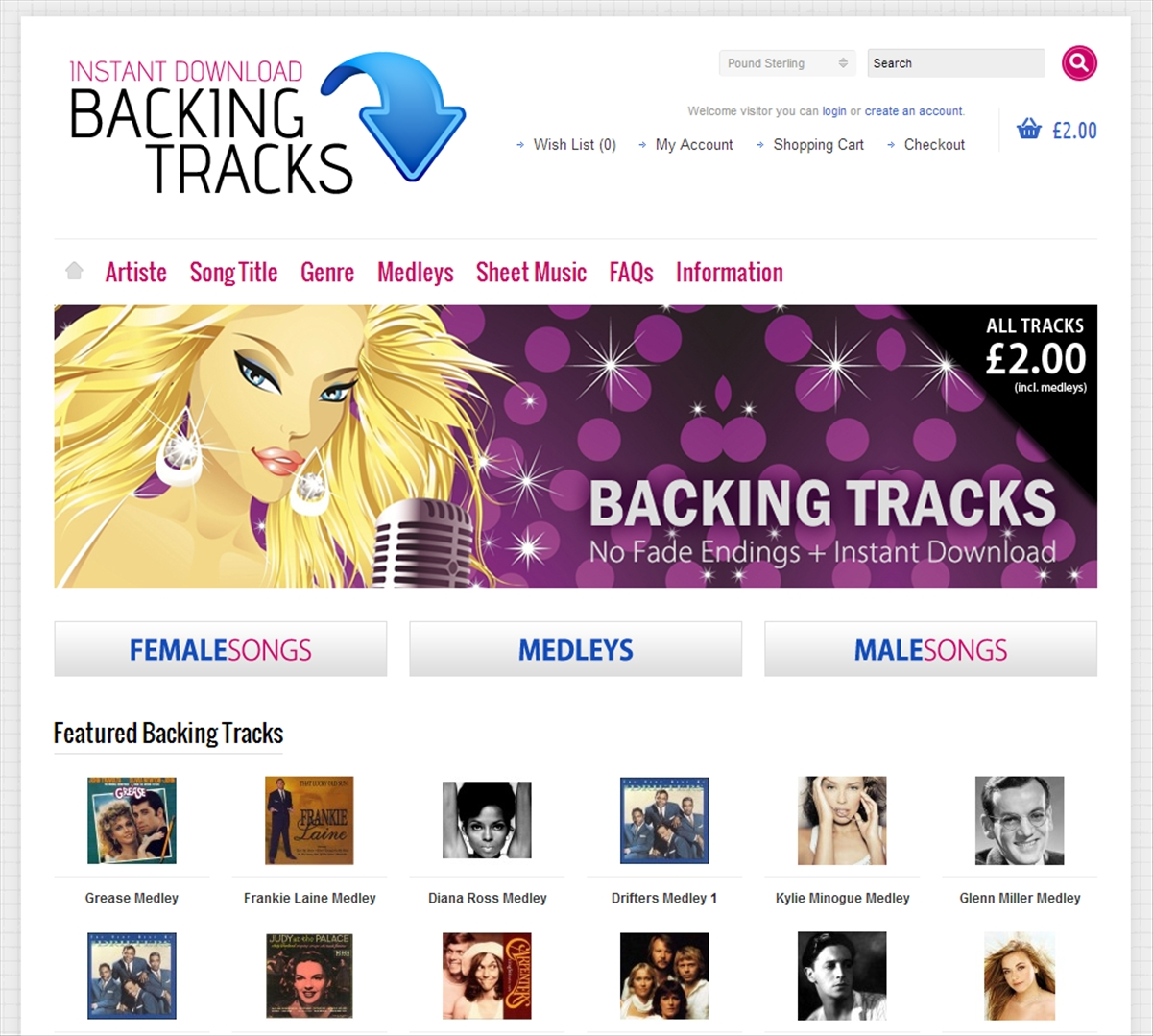 Instant Download Backing Tracks by OneTwo Web Solutions