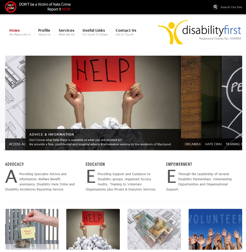 Disability First - Web Site by OneTwo